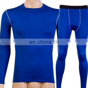 Basic wholesale compression shirts with sport leggins for mens suit