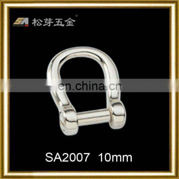 Song A SA2007 hardware accessories-high quality zinc alloy polished d ring buckle