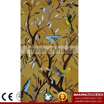 IMARK New Design Oil Painting Pattern Mural Mosaic Tile/Hand Cut Mosaic Art/Glass Mosaic Wall Art Murals For Wall Decoration                                                                         Quality Choice