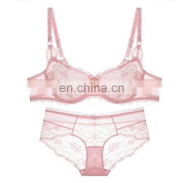 2017 New Design Lace Woman Bra Lingeries Girl Sexy Fancy Bra Panty Set