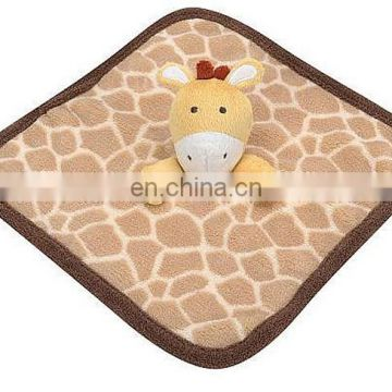 100% polyester blanket plush stuff animal toys for baby