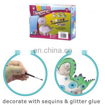 New design DIY painting ceramic money bank /coin bank for kids