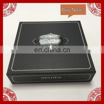 High-end black color cardboard luxury boxes garment