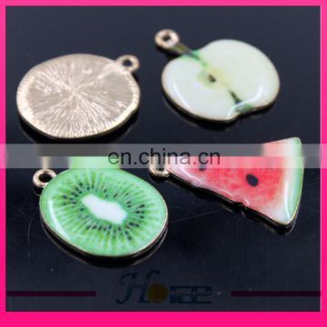 Fashion fruit charm pendant fruit shape enamel pendant for decoration