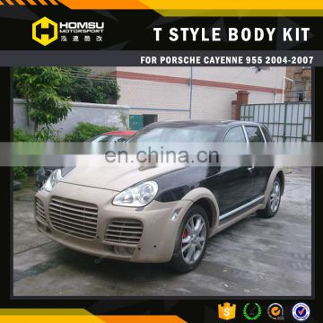auto tuning design TA wide body kit for cayenn-e 955 2004-2007 year fiber glass material