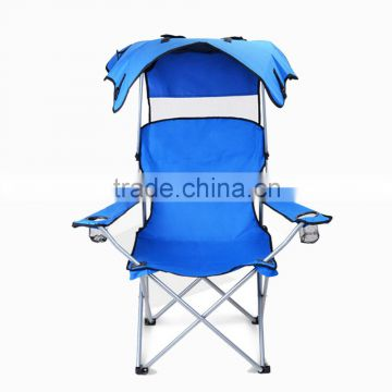 Sunshade Folding Camping Bunk Oxford Cloth PVC Fabric For Beach Chair Outdoor Beach Chair With Canopy