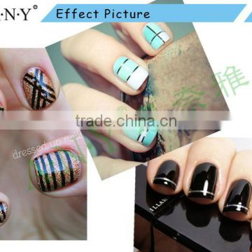 ANY Nail Beauty Curing Decorative Line Sticker 24M Laser Blue Nail Tape Sticker