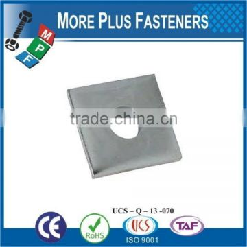 Made in Taiwan Brass Flat Silver Galvanized Stainless Steel Square Washer
