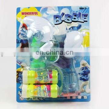 plastic battery operated flashing toy bubble gun
