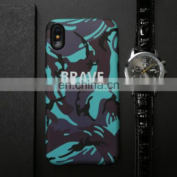 Wholesale factory price hot sell Cell Phone Case Brave Pattern Luminous Protective Back Cover Case for iphone X