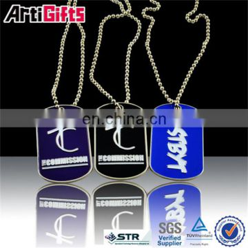 Factory supply custom metal military dog tags