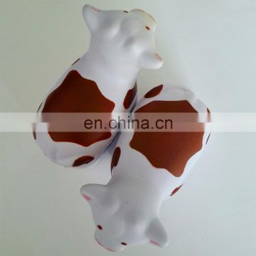 hot sale high quality PU stress ball cow shape/PU funny cow toy/customed PU promotional gift cow