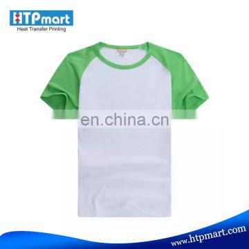 Factory Wholesale Cotton Sport Colorful shoulder Printed Blank Tshirt for Famliy