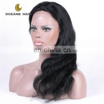 Hot style 2016 new cheap price factory price hot sale thick 120% full lace wig brazilian human hair
