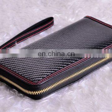 Fashion Leather Genuine Wallet Real Carbon Fiber Wallet