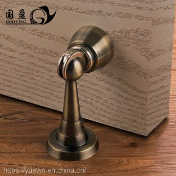 Guanyin copper door absorb lengthened pure copper gold brass strong magnetic absorb bathroom door touch screen sterile