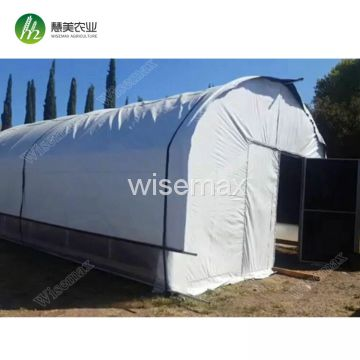 Agriculture breathable fabric curtain plastic blackout greenhouse