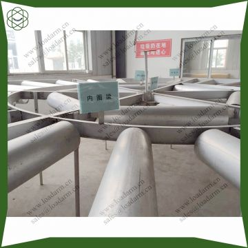 assembling aluminum internal floating roof deck disk for storage tank