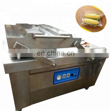 Semi Automatic seafood vacuum pack double chamber vacuum packing machine