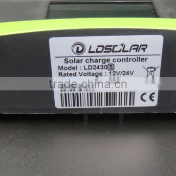 hot-selling pwm solar charge controller 30A with USB