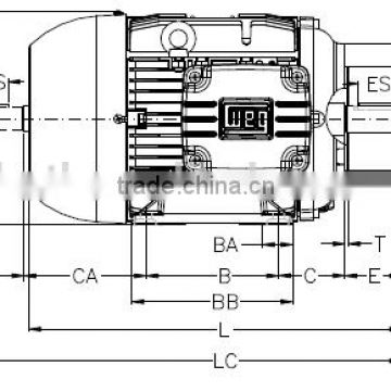 3 phase AC motor Three phase induction motor Squirrel cage rotor of