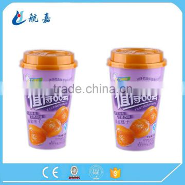 Wholesale disposable milk tea cold drink paper cup with lid