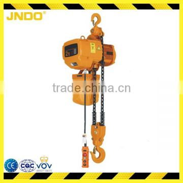 2 ton double brake system electric chain hoist with 6 meters chain