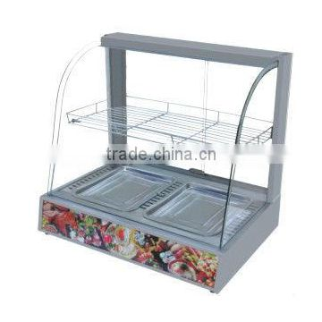 glass food warmer display showcase/ Display Cabinet CY-3G
