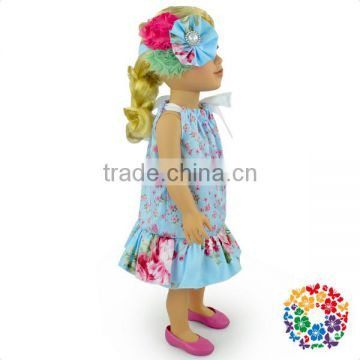 "New Design Cheap And High Quality 18"" Doll Clothes One Piece Dress American Girl Doll Clothes Wholesale Girls And Dolls Matching"