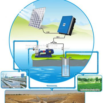 90kw solar water pump system submersible water pump for agriculture irrigation