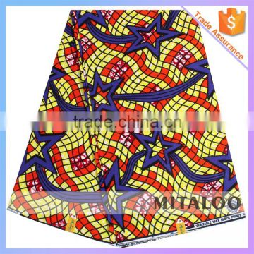 Mitaloo Hot Sale African Real Wax Prints Cotton Fabric 6 yards For Garment Clothes MH3052