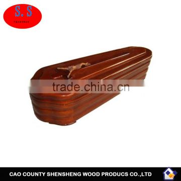 Chinese paulownia wooden caskets / cheap prices coffins for sale