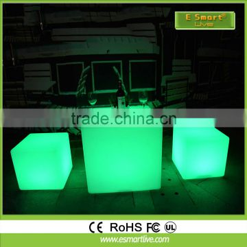 waterproof led cube chair for Bar set