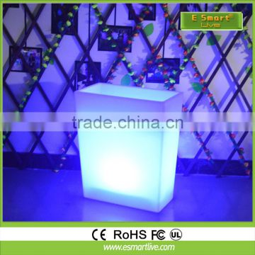 Outdoor decorative led flower vase illuminate led flower pot with light
