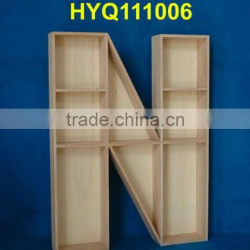 custom unfinished wooden letter box wholesale