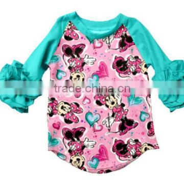 3c4b09308bd1 ruffle raglan shirt cute mouse girl latest design top giggle moon ...