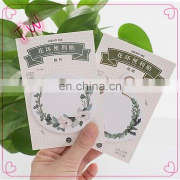 Logo printed custom printing fancy stationery for kids cute Multiple colour flower design paper sticky notes
