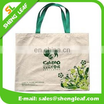 2016 custom design of tote bag cotton canvas, cotton canvas tote bag