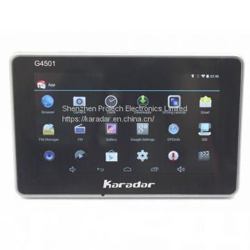 Karadar G4501 car gps navigator dash cam capacitive touch screen tachgraph