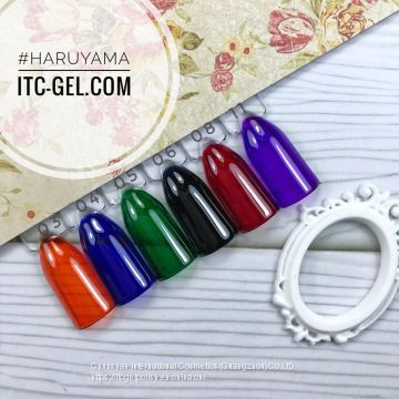 Free sample high quality soak off coloured glaze Uv Gel Nail Polish