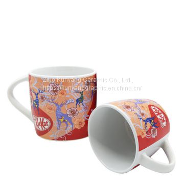 Wholesale Round Customized Printed Ceramic Mug With Handle-14oz