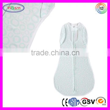 C976 Convertible Vented Nursery Swaddling Zipper Blankets Breathable Cotton Blanket with Zipper