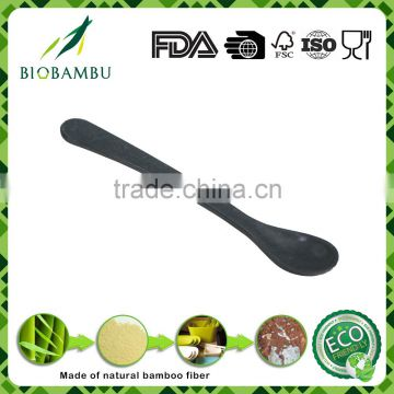 Green cheap ecological eco bamboo fiber fork and spoon
