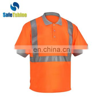 100% cotton reflective safety work clothing Polo T-shirt