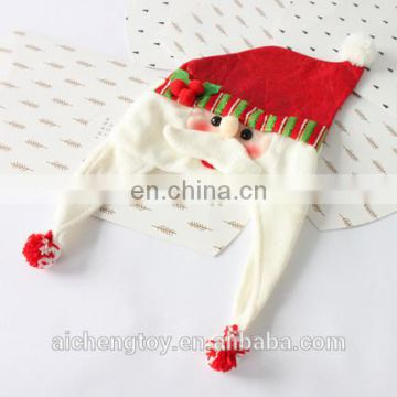 custom unique long ears christmas snow man plush hat