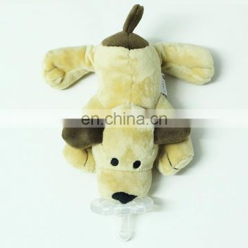 hot sale monkey shaped silicone baby pacifier plush toy