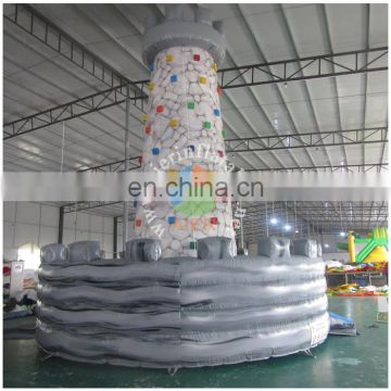 2016 Good price Standard 0.55mm PVC tarpaulin inflatable rock climbing wall / hot sale inflatable rock climbings