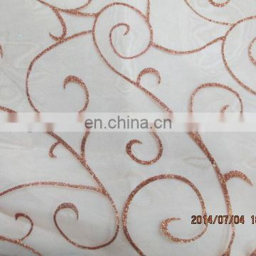Spraying Shining Holiday Decoration 150cm Width Organza Fabric