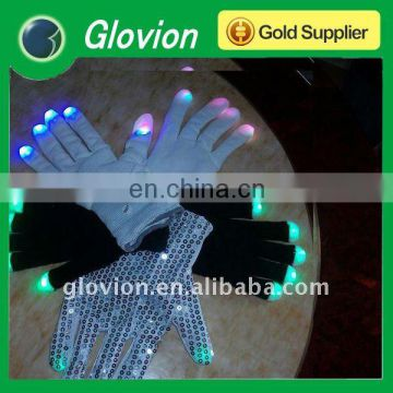 XMAS flashing gloves, Christmas LED flashing multicolor magic gloves