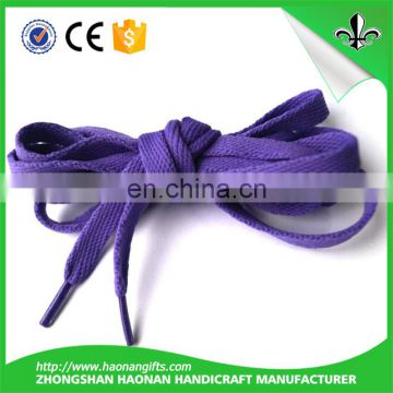 Popular high quality cheap printed recycled polyester shoelace